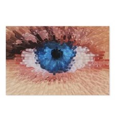 Computer graphic 3-D block image of a human eye -