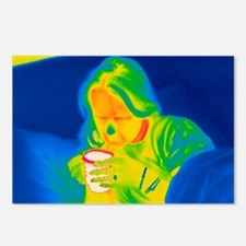 Hot drink, thermogram - Postcards (Pk of 8)