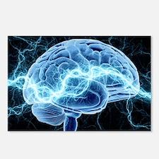 Human brain, conceptual artwork - Postcards (Pk of