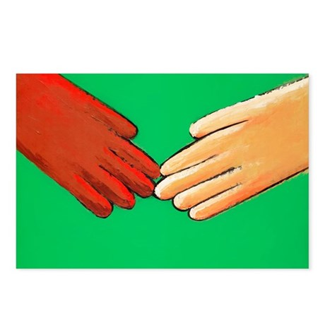 Hands touching - Postcards (Pk of 8)
