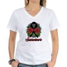 Melanoma Survivor Rose Tattoo Shirt