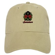 Melanoma Survivor Rose Tattoo Baseball Cap