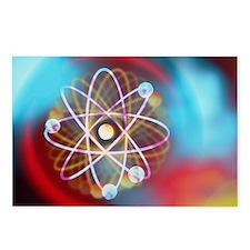 Art representing a beryllium atom - Postcards (Pk