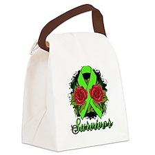 Lyme Disease Survivor Rose Tattoo Canvas Lunch Bag