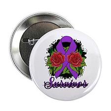 "Lupus Survivor Rose Tattoo 2.25"" Button (10 pack)"