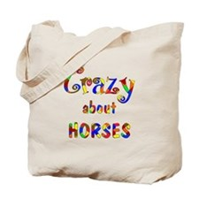 Crazy About Horses Tote Bag