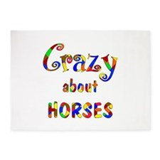 Crazy About Horses 5'x7'Area Rug