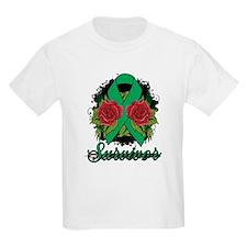 Liver Cancer Survivor Rose Tattoo T-Shirt