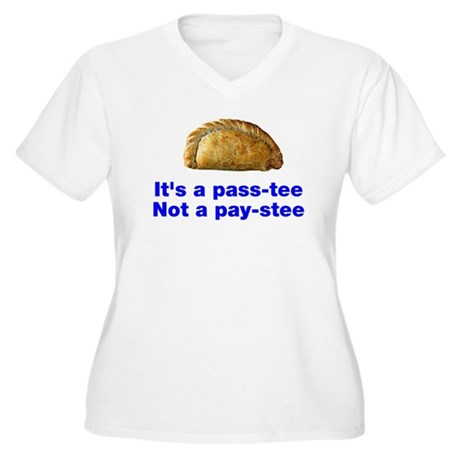Pasty is a pass-tee Women's Plus Size V-Neck T-Shi