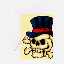 Skull In Top Hat Tattoo Art Greeting Card