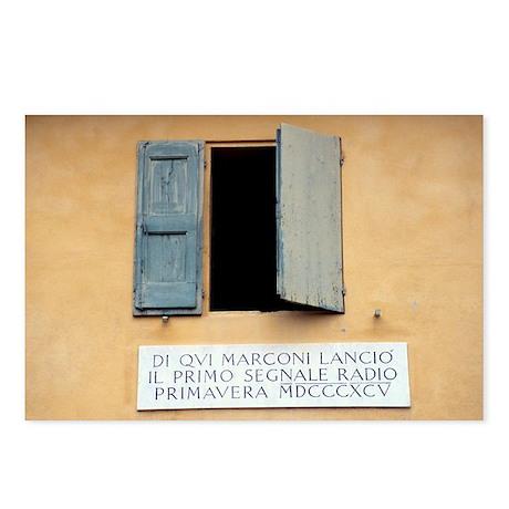 Window where Marconi transmitted radio - Postcards