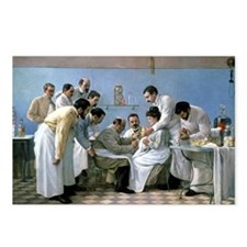 Diphtheria treatment, artwork - Postcards (Pk of 8