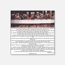 Matthew-26:17-30 The Last Supper Square Sticker 3""