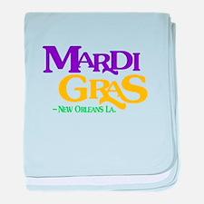 Mardi Gras baby blanket