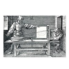 Artist drawing a lute - Postcards (Pk of 8)