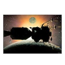 Artwork of Apollo spacecraft over Moon - Postcards