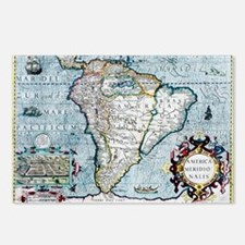 17th century map of South America - Postcards (Pk