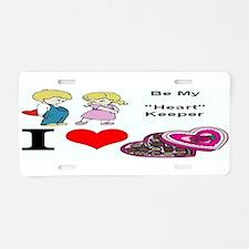 Valentine Heart Keeper Aluminum License Plate
