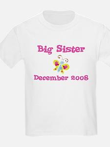 Big Sister December 2008 Due Date Kids Tee