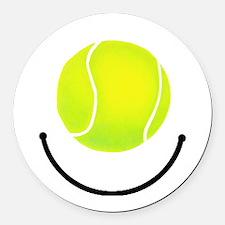 Tennis smile Round Car Magnet