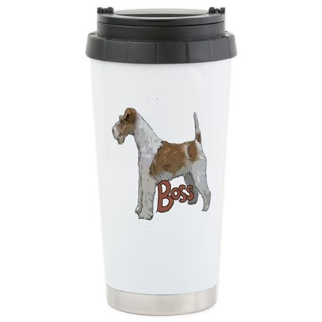 Wirehaired Fox Terrier Stainless Steel Travel Mug