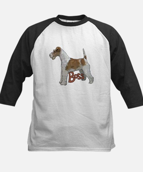 Wirehaired Fox Terrier Kids Baseball Jersey