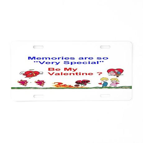 Valentine Memories Special Aluminum License Plate