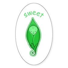 Sweet Pea Oval Decal