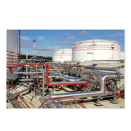 Oil pipelines and storage tanks - Postcards (Pk of