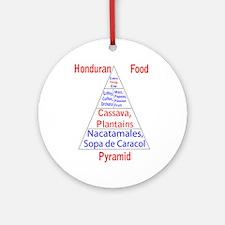 Honduran Food Pyramid Ornament (Round)