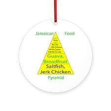 Jamaican Food Pyramid Ornament (Round)