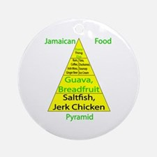 Jamaican Food Pyramid Ornament (Round)