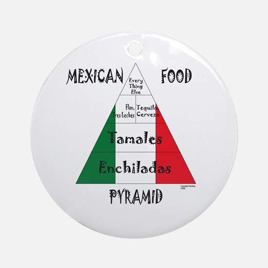 Mexican Food Pyramid Ornament (Round)