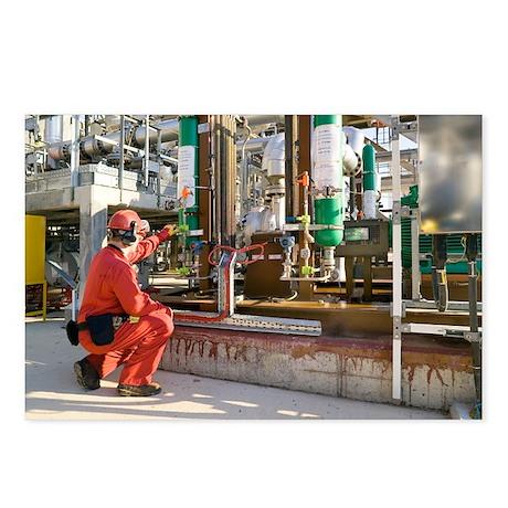 Oil refinery worker - Postcards (Pk of 8)