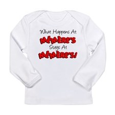 What Happens At Memeres Long Sleeve Infant T-Shirt