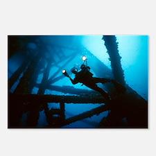 Scuba diver - Postcards (Pk of 8)