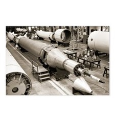 Rocket production - Postcards (Pk of 8)