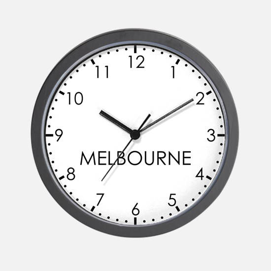MELBOURNE Modern Newsroom Wall Clock