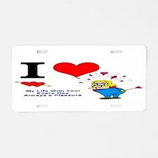 I Love You Valentine Aluminum License Plate
