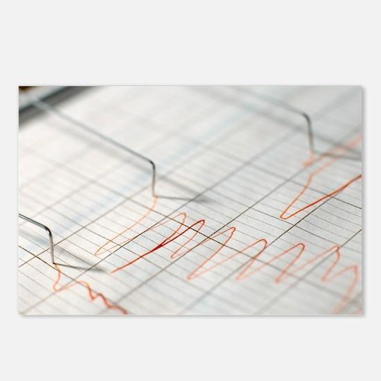 Lie detector traces - Postcards (Pk of 8)