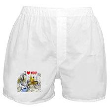I Love You Valentine Boxer Shorts