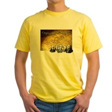 Declaration of Independence Founding Fathers Yello