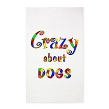 Crazy About Dogs 3'x5' Area Rug