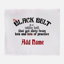 The Black Belt is Throw Blanket