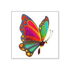 Rainbow Butterfly Rectangle Sticker