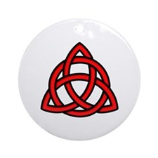 Celtic Knot Red Ornament (Round)