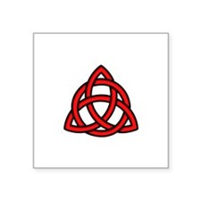 "Celtic Knot Red Square Sticker 3"" x 3"""