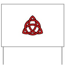 Celtic Knot Red Yard Sign