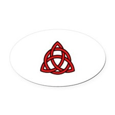 Celtic Knot Red Oval Car Magnet