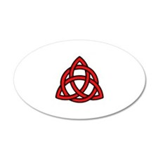Celtic Knot Red Wall Decal